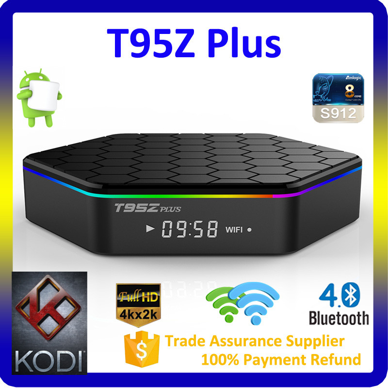 2017 Best Selling1080p Full HD Video Songs 1000M Ethernet Bluetooth 4.0 Ott Tv Box Android 6.0 Amlogic S912