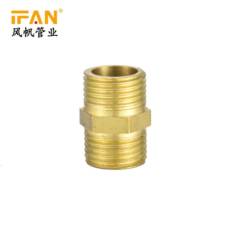 1/8-2inch buitendraad gelijke verminderen messing nipple adapter koppeling joint gas tepel