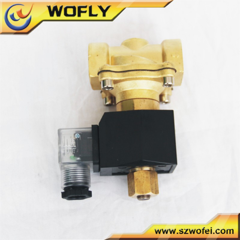 low voltage normal close automatic control solenoid valve for gas combustion