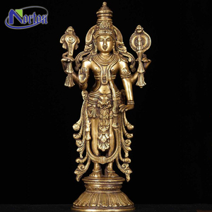 Indian yellow metal buddha brass Krishna statue for sale NTBS-363Y