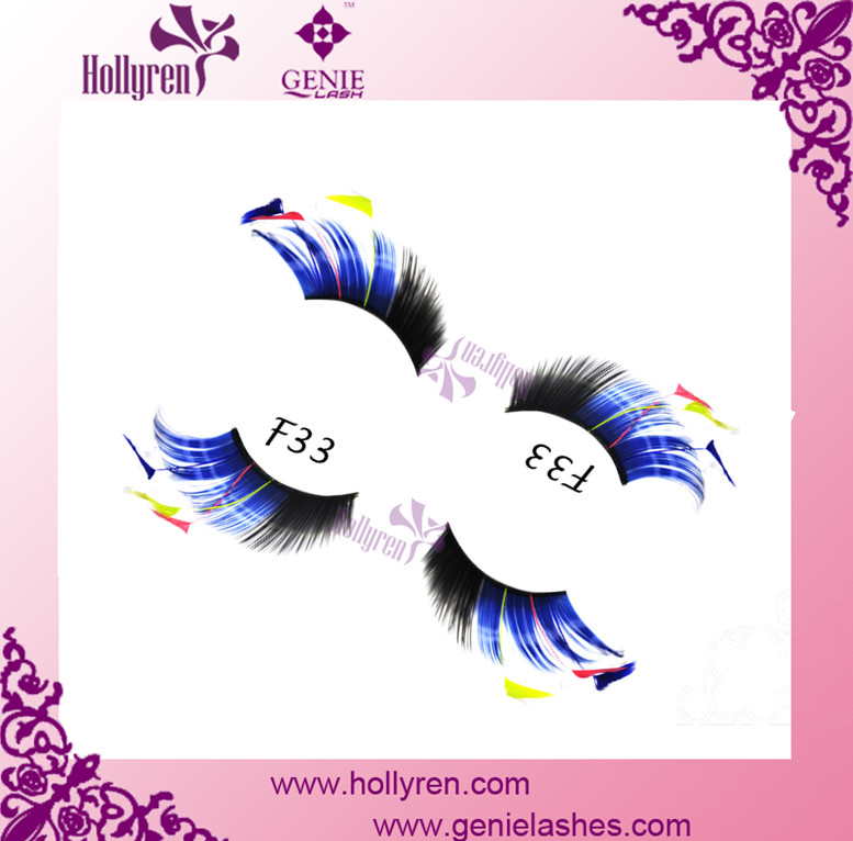 Best Selling Christmas Exaggerated Feather False Eyelashes for Sale
