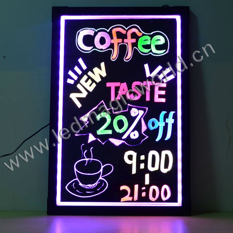 New Flashing Cafe LED Writing Menu Board