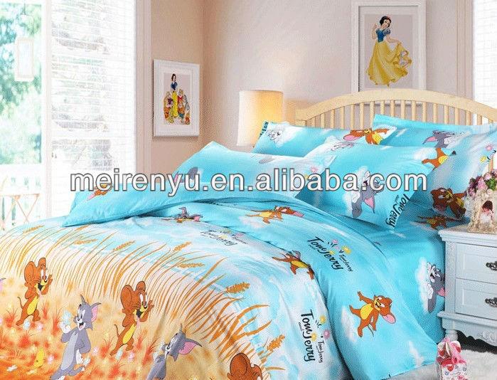 2015 China Bedruckten Stoff Betten 100 Baumwolle Bunten Cartoon