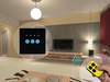 Home Automation Remote Electrical Controlled Touch Screen Wall Light Dimmer Switches 3 Gang 1 Way 2 way Giant JJ-TSAB-03