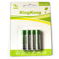Best price 1.5v aaa alkaline battery lr03 with blister card for wall clocks
