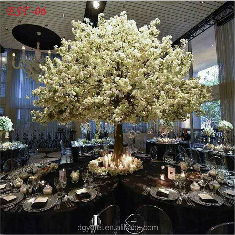 New fake cherry blossom tree table tree artificial indoor cherry blossom tree for christmas /wedding /table decoration