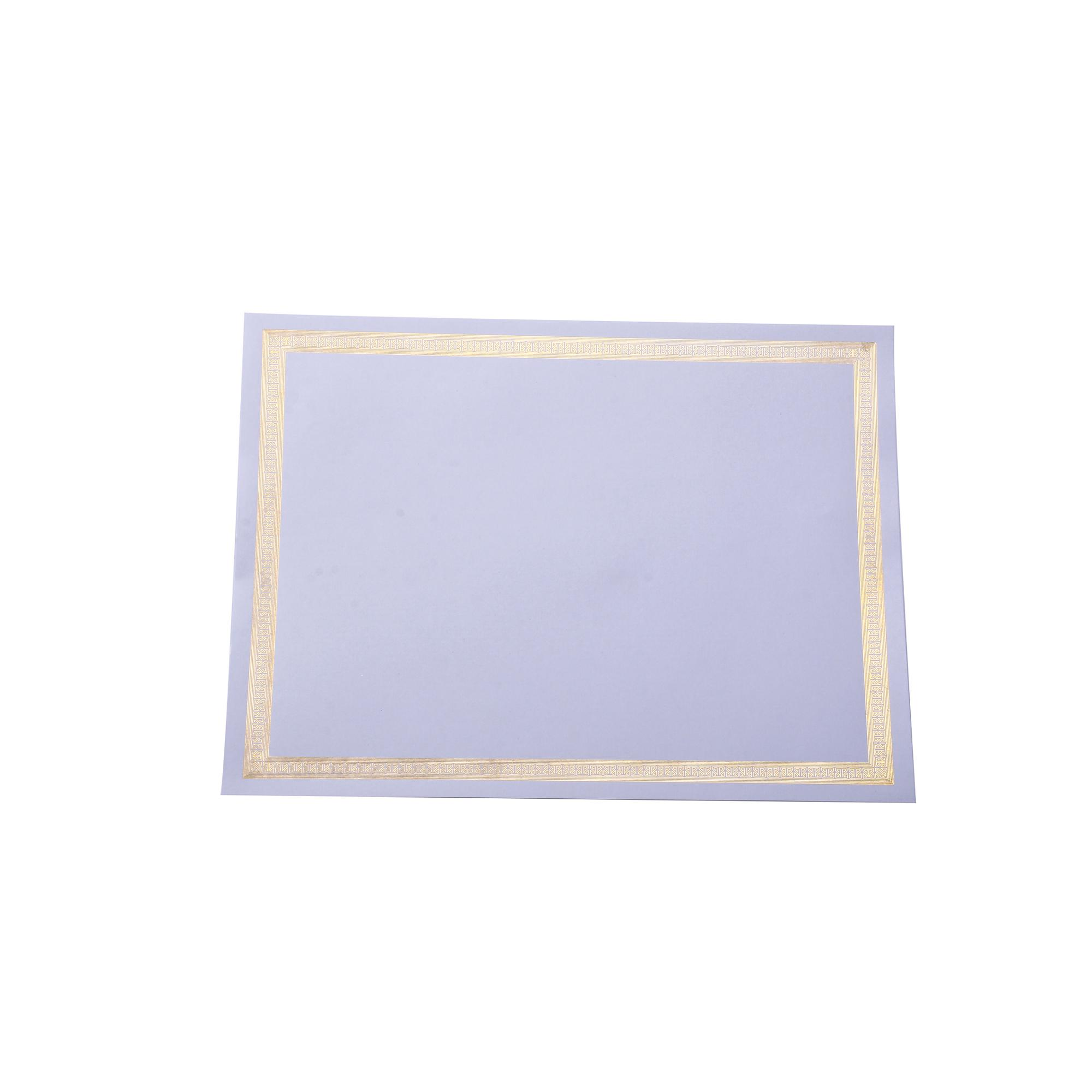 Custom cheap hot sale blank gold foil certificate <strong>printing</strong>