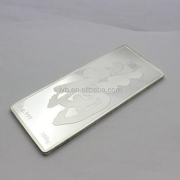 Custom Silver Bullion Bars 1 Oz Buy Silver Bars 1 Oz Silver 999 Bar Pure Silver Bar Product On Alibaba Com