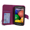 Soft PU Leather Wallet Case For Motorola Moto E Magnetic ,For Moto E XT1021 Shockproof Case
