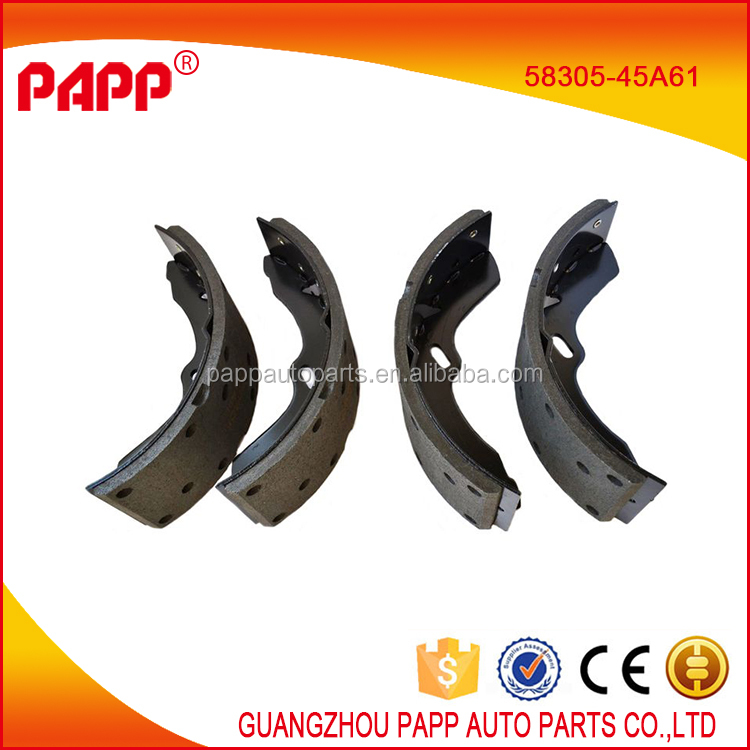 Hot sale brake shoe 58305-45A61 58305-45A62 for hyundai county