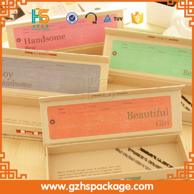 Wholesale Custom School Paper Pencil Case, Alibaba Sale Luxury All Types Of Pencil Boxes And Cases In Guangzhou Factory