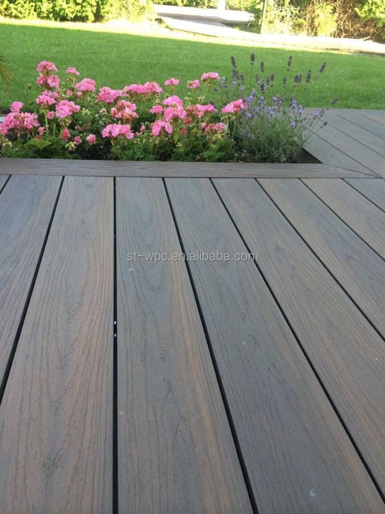 Mixing color co-extrusion wpc deck, fabulous decoration material