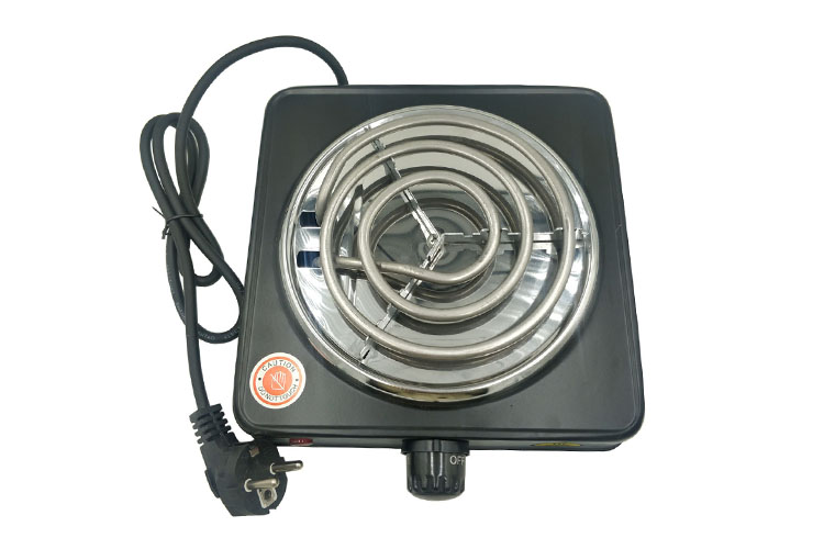 T011CB LVHE Temperature Control Black and Silver Electric Hot Plate Portable Hookah Shisha Charcoal Burner