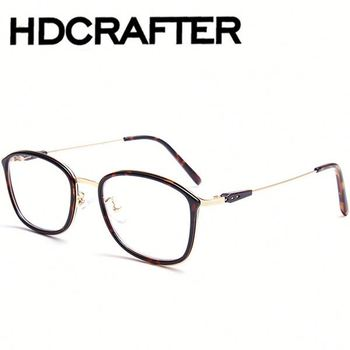 Vintage Transparent Glasses Clear Eyeglasses Frame Square Optical ...