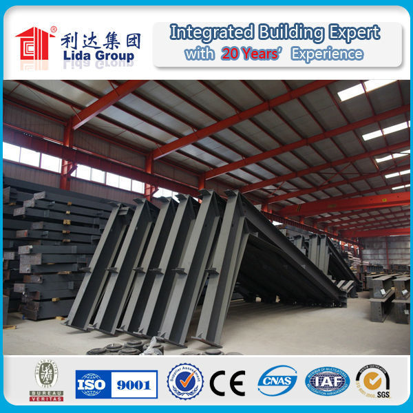 Cheap Prefab Long-span Steel Structural Buildings/ Fast Construction Houses/Steel Beam Warehouse