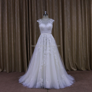 China Dress Manufacturer Alibaba Wedding Gowns A Line Bridal Dresses With Lace Applique