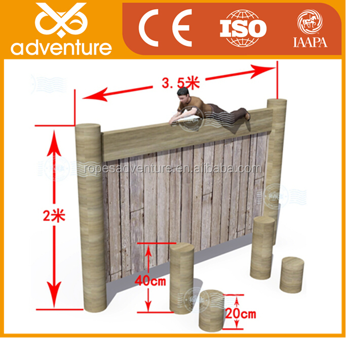 outdoor obstacle military training wooden course for sale