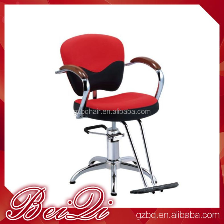 Professional Cheap Stainess Steel Salon Furniture Orange Hydraulic Recline Barber Chairs For Sale