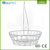 Hot sale kitchen metal wire single tier fruit basket with banana hook