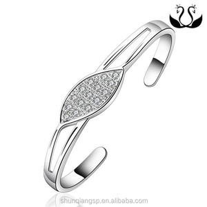 Europe and America Stainless steel bracelet diamond open fashion 3 inch bangle bracelets