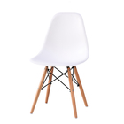 Factory sale Custom Modern Plastic Dining plastic beech wood Chair in nordic style white color