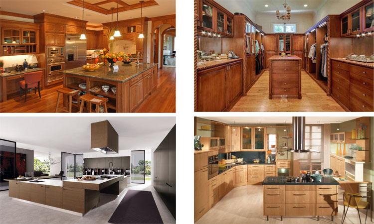 Holz Küchenschrank Einfache Designs Für Villen - Buy Product on ...