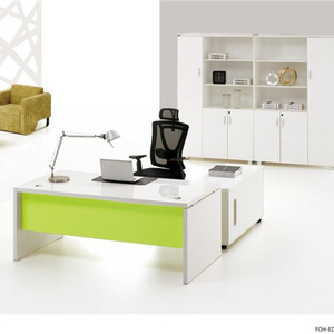 Executive Office Desk Furniture Modern White Color Melamine Office Desk