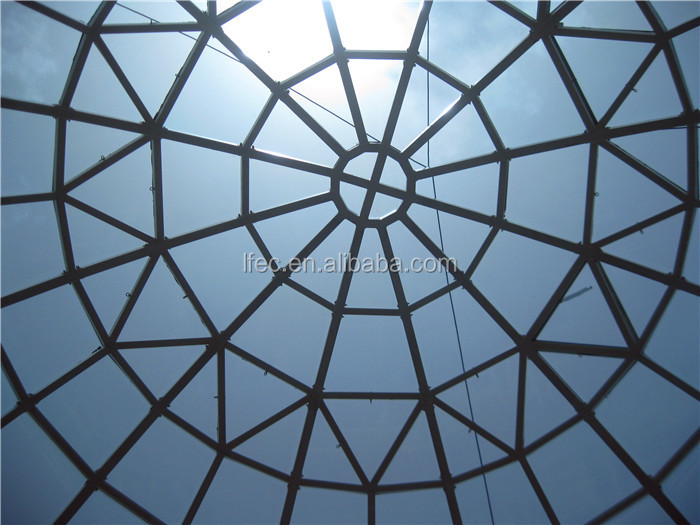 Q235B Pipe Steel Structure Glass Dome Roof Skylight With CE&CCC