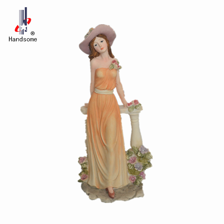 Poly Nice Antique Resin Products Lady Statues For Sale Home Decor Figurine