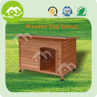 Big handmade dog kennel, wooden dog furniture
