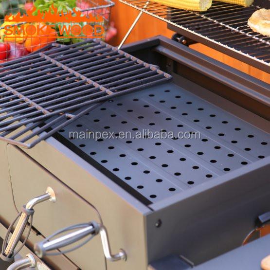 Deluxe En Acier Jardin Patio Extérieur Chariot Barbecue Au