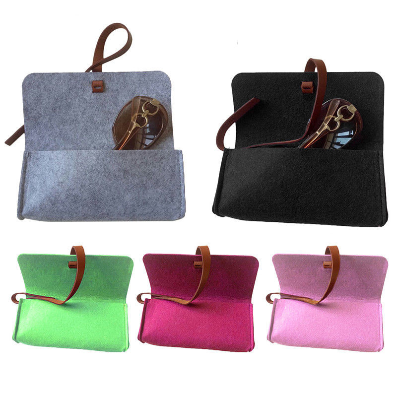 China factory wholesale felt eyeglass case cheap felt sunglasses pouch