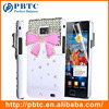 Set Screen Protector And Case For Samsung Galaxy S2 I9100 , Hard Plastic Crystal Bling Phone Case