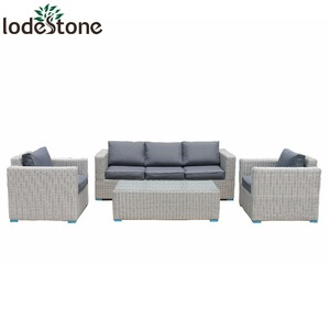 4pcs half round wicker royal patio sets Garden furniture sofa