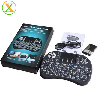 Smart keyboard Rechargeable Battery mini Keyboard Rii i8+ Mini Wireless 2.4G Backlight Touchpad