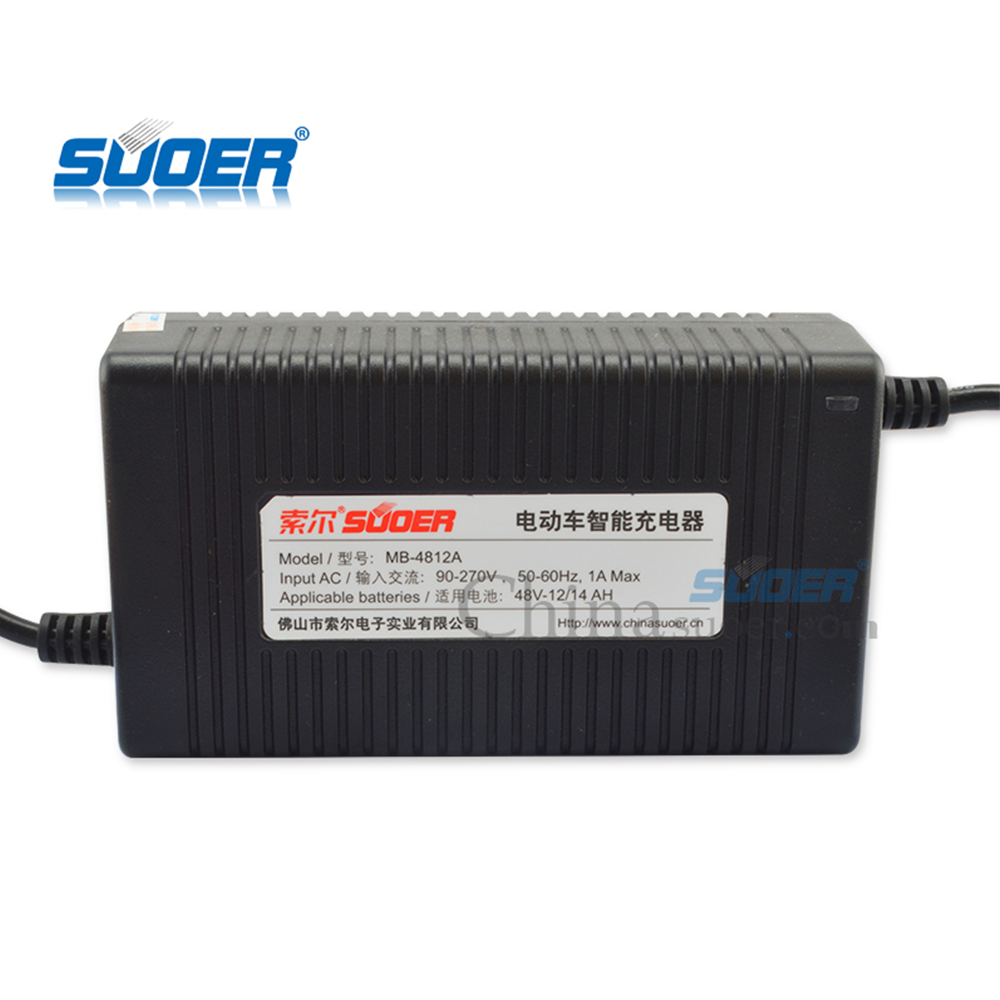 Suoer 12A 48 V Auto Elettrica Intelligente Battery Charger con ROHS