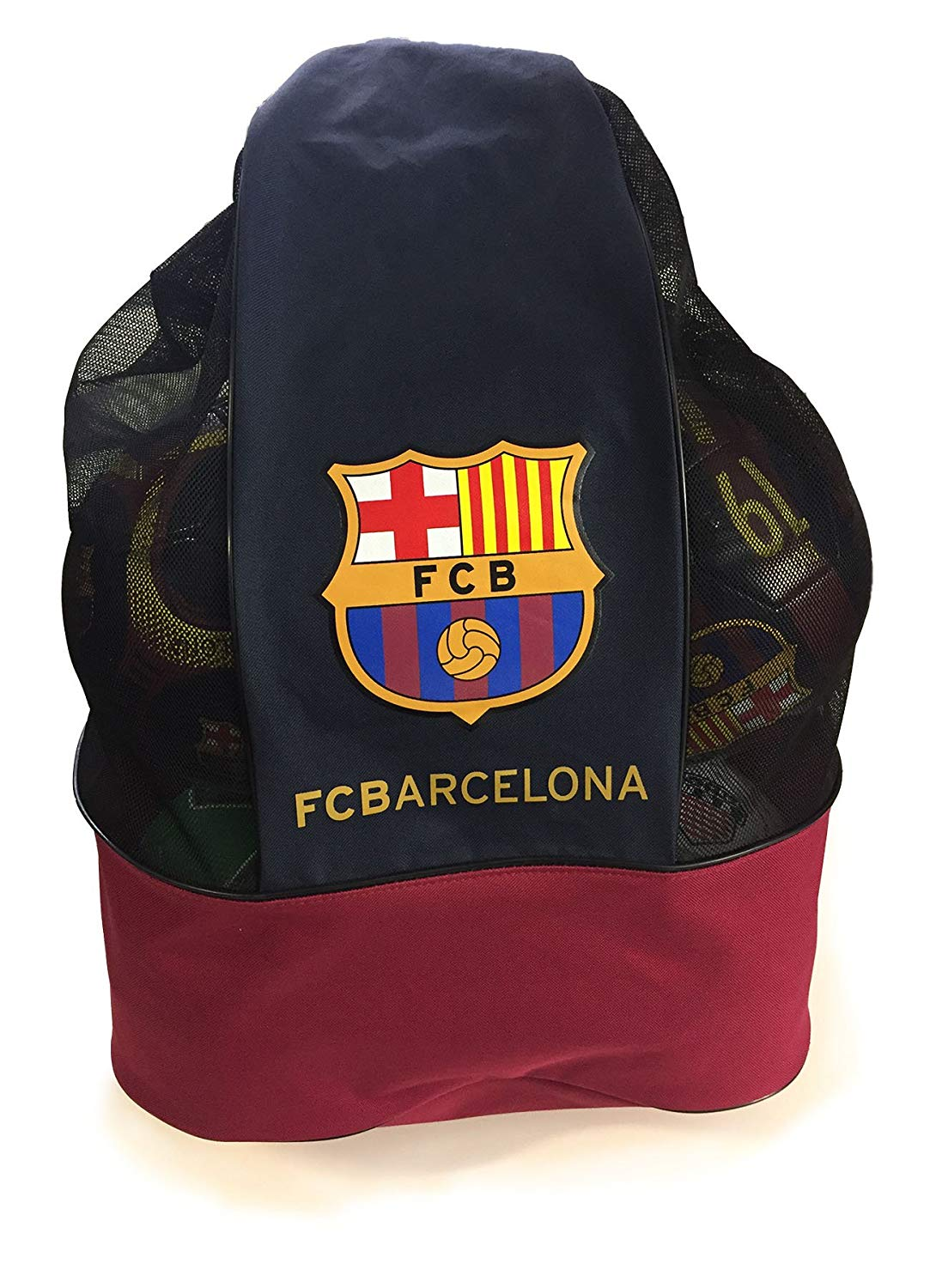 91e52b931 Get Quotations · FC Barcelona Official Drawstring Sports Equipment Ball Bag  Nylon Mesh Material Shoulder Strap Practice Ball Bag
