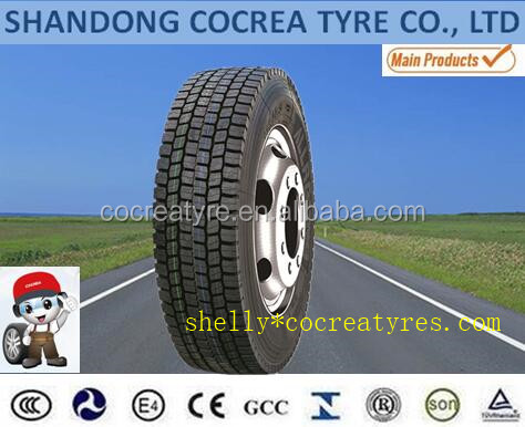 Cocrea brand All steel Radial Truck tyre 315/80R22.5 high overload in Malaysia market