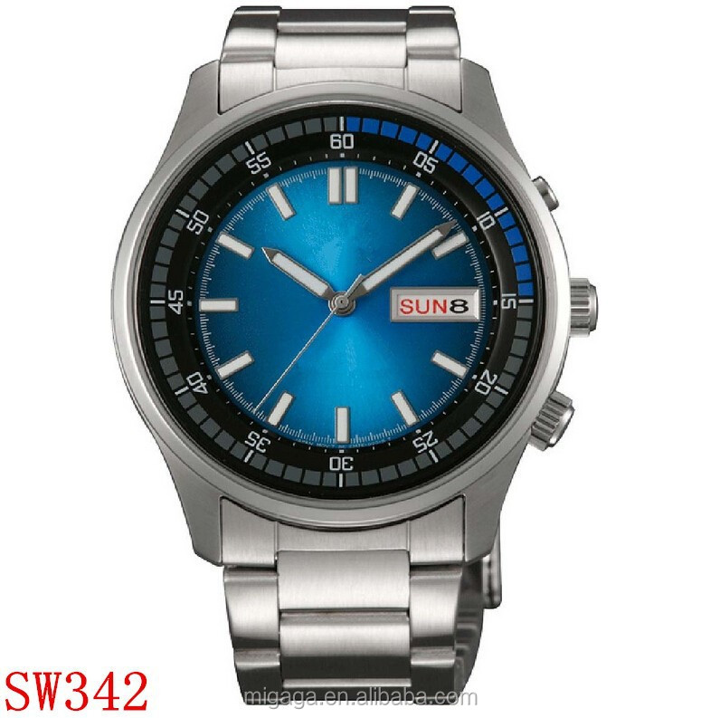 Best automatic watch manufacturer, MiGaGa watch factory, Men's Stainless Steel Day/Date 100M Self Winding Automatic Watch