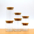 New Design Glass Storage Jar with Wooden Lid and Tap for Fruit Glass Jar Glass Container Jars