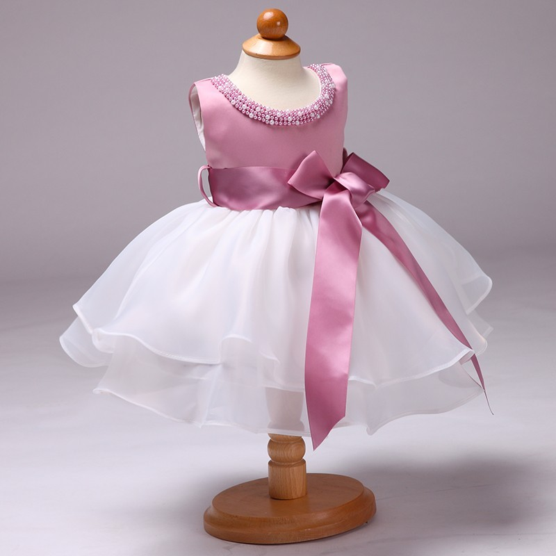 925520779 Children Frock Model Small Girl Carters Baby Clothes 1 Year Old Baby Girls  Puffy Party Dress