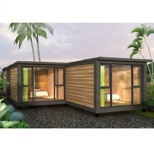 MHFB03b-Prefab House cottage Resort Log cabin 3 Bedroom Container Mobile Modern prefabricated house Beautiful home