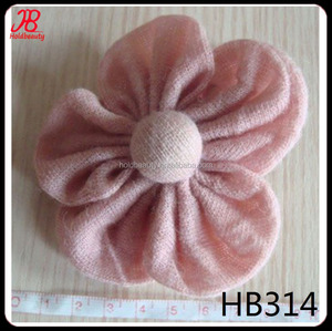 workshop handmade sew beige hat flower with button center