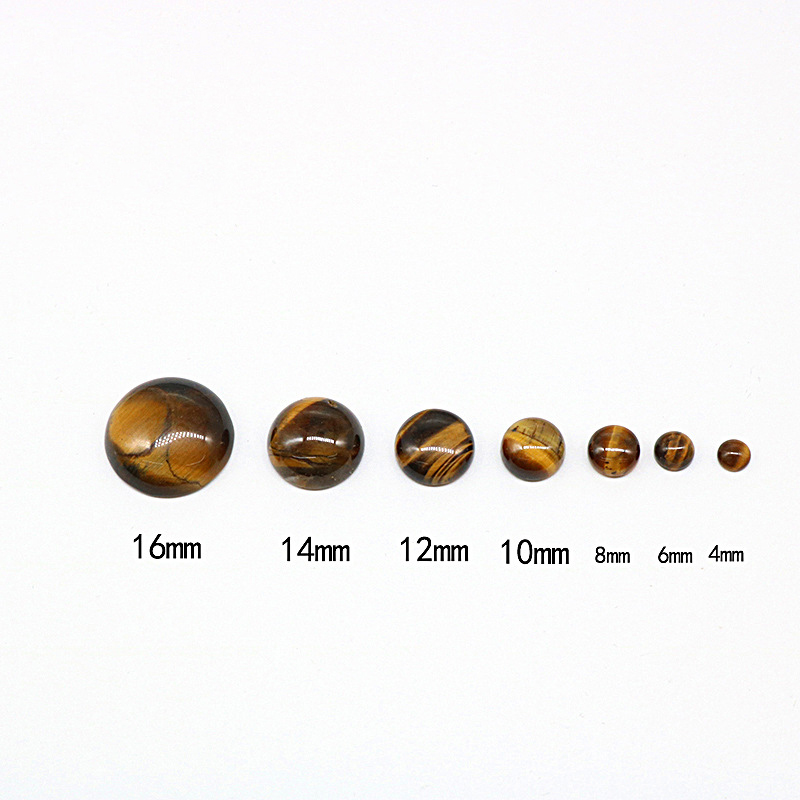 OEM Flat Natural Crystal Agate Drop Half Round Ring Face Gemstone Interface Cabochon Stone Inlaid Ring for Jewelry Making