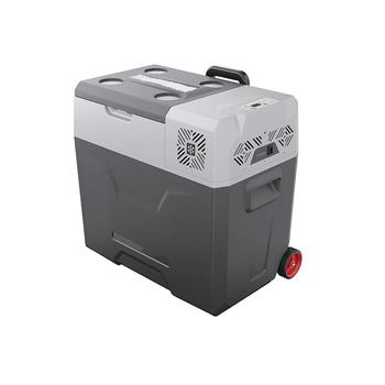 12/24V DC and 110-240 AC camper/caravan Refrigerator 30 Liter portable fridge with Trolley Vehicle, for Driving, Travel,