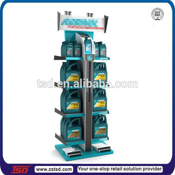Tsd m214 wholesale metal rack motor engine oil stand car for Buy motor oil wholesale