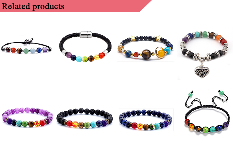 Nature stone jewelry bracelet fashion stretch bracelet set