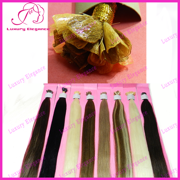 Pre-Bonded U Tip Nail Hair Extension 100% Brazilian Hair For Sale