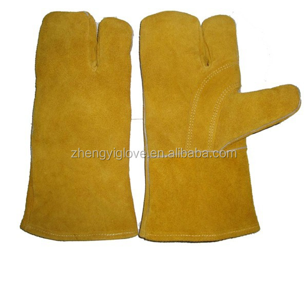 Cow split leather working gloves with high quality and competitive price