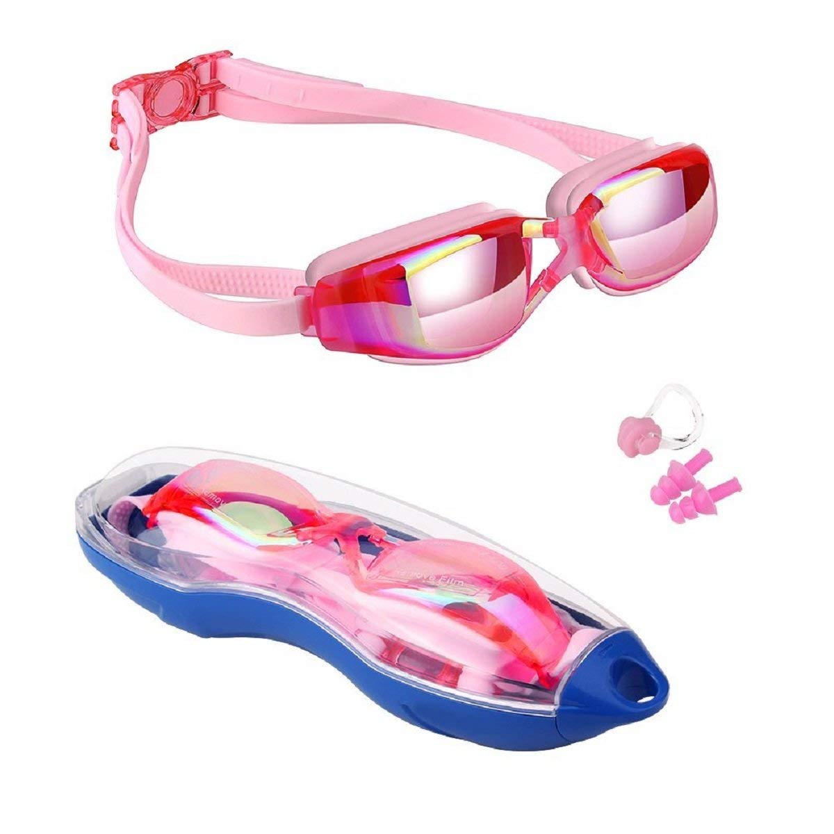 7c444b7e4e00 Get Quotations · Smiley-Store Swim Goggles No Fog Swimming Goggles No  Leaking Anti Fog UV Protection Swim